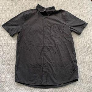Volcom Gray Button Down Shirt, Small